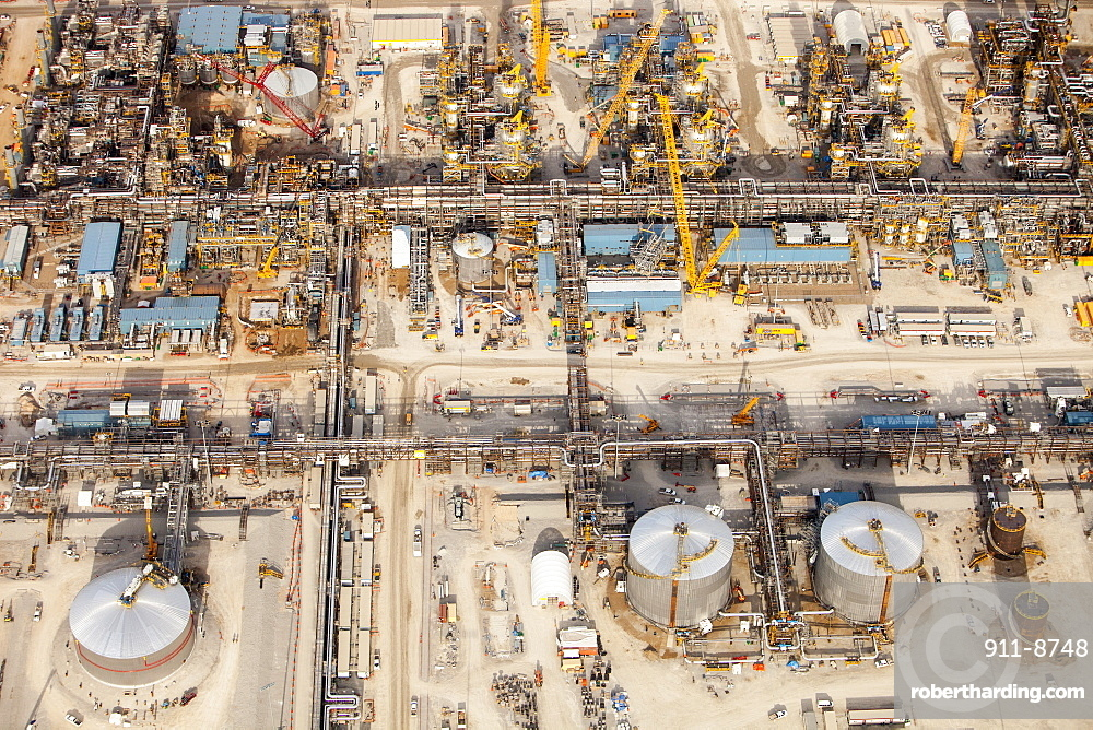 A brand new Tar sands plant being constructed north of Fort McMurray, Alberta, Canada, North America