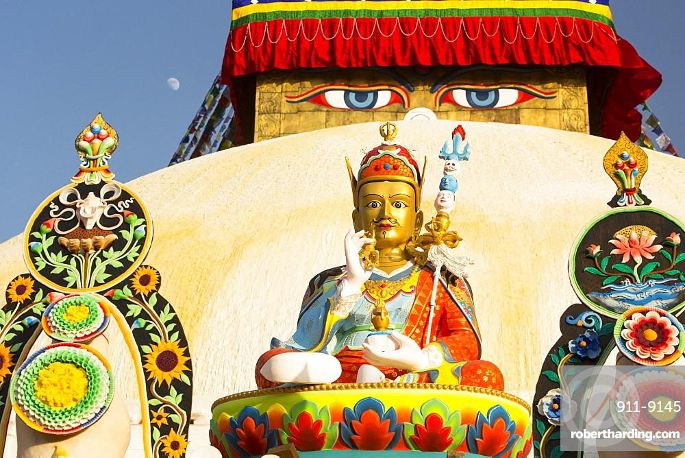 Buddhist Symbols At The Boudhanath Stock Photo
