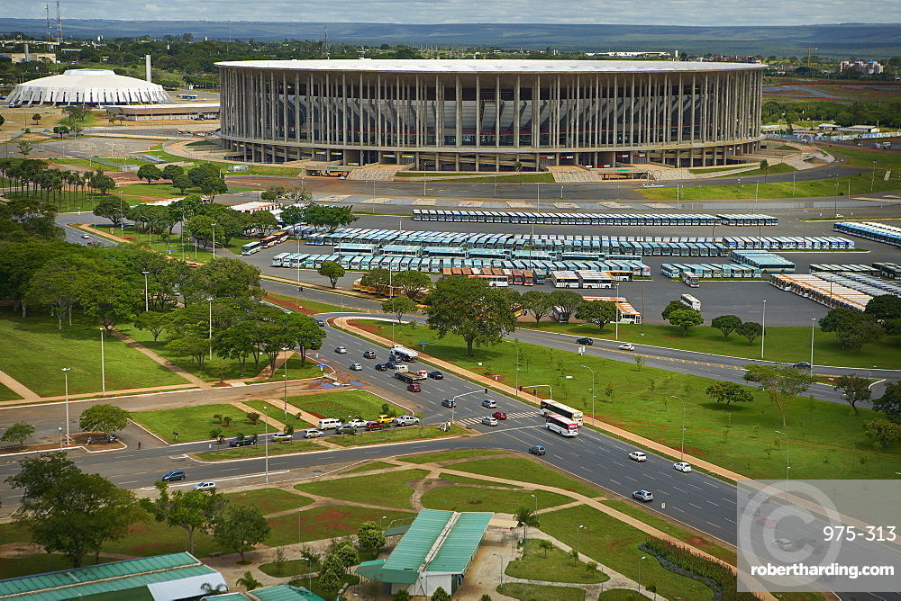 Estadio Nacional Mane Garrincha and Nilson Nelson Gymnasium, part of the Poliesportivo Ayrton Senna Complex, Brasilia, Brazil, South America