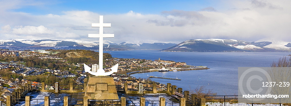 Free French Memorial, Lyle Hill, Greenock, River Clyde, Scotland, United Kingdom, Europe.