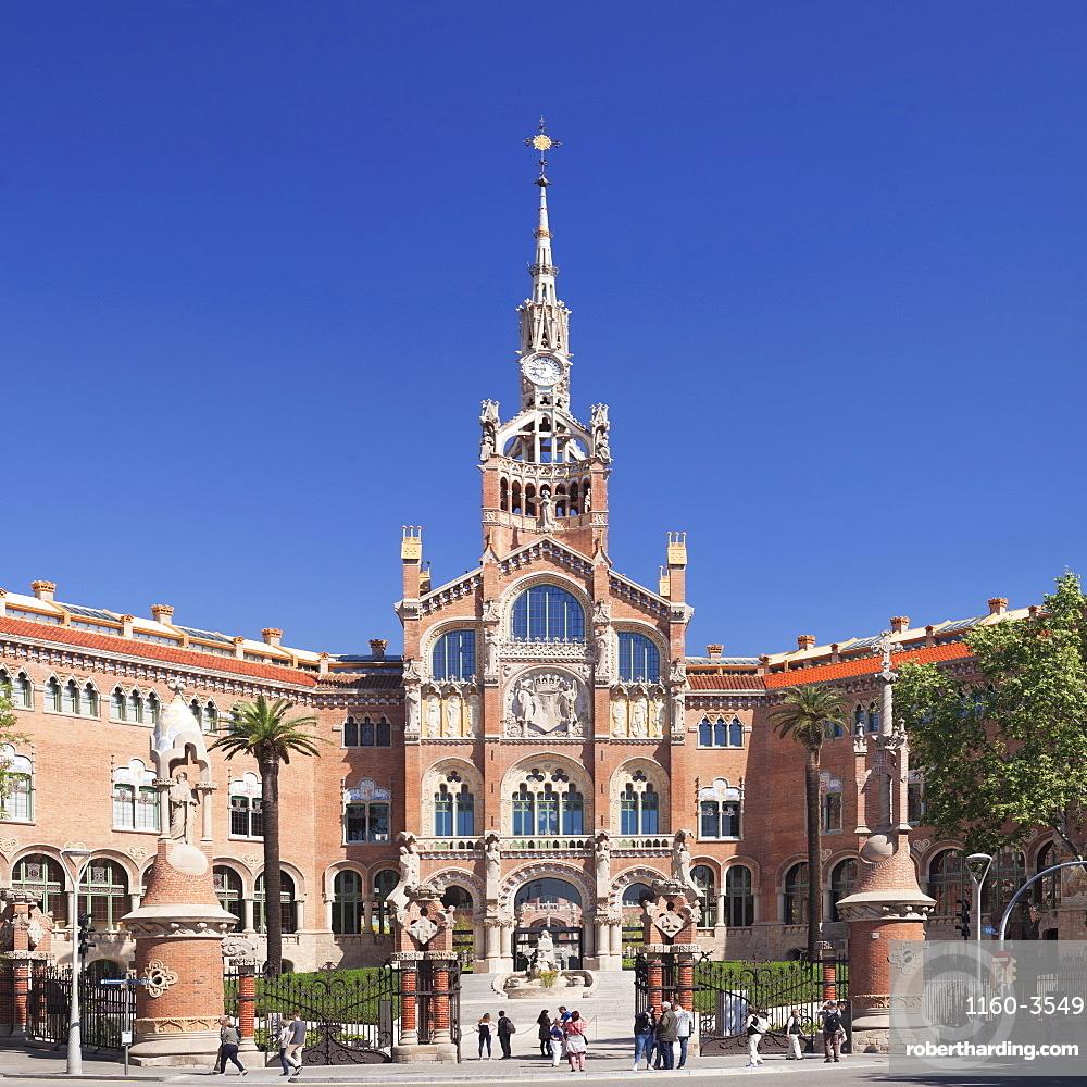 Hospital de la Santa Creu i Sant Pau, Lluis Domenech i Montaner, UNESCO World Heritage Site, Barcelona, Catalonia, Spain