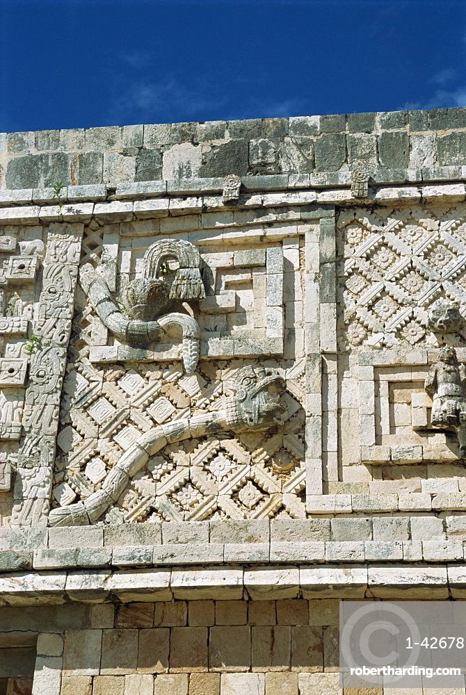 Nunnery Quadrangle, Uxmal, UNESCO World Heritage Site, Yucatan, Mexico, North America