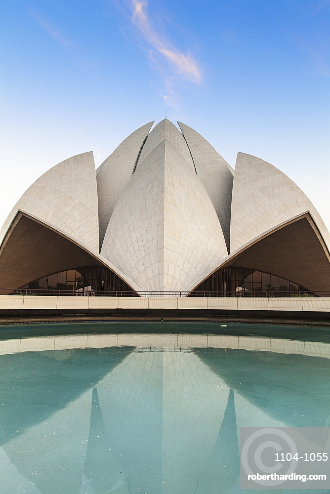 India, Delhi, New Delhi, Bahai House of Worship know as the The Lotus Temple
