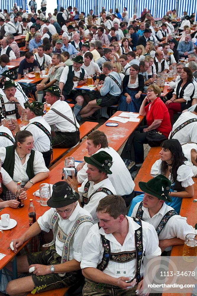 Alpine Finger Wrestling Championship, Antdorf, Upper Bavaria, Germany