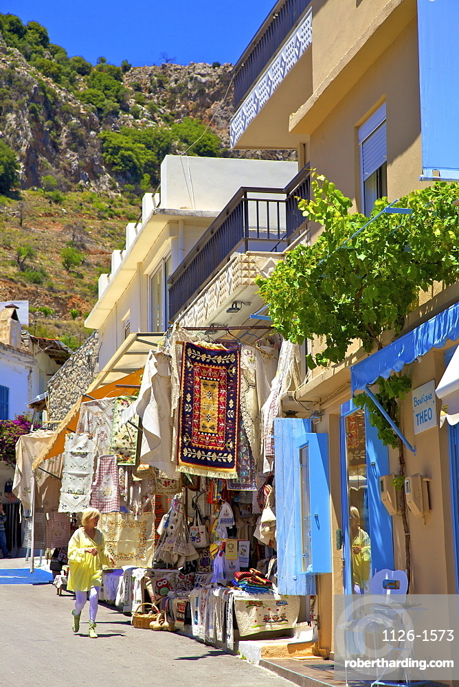 Shopping In Kritsa, Crete, Greek Islands, Greece, Europe