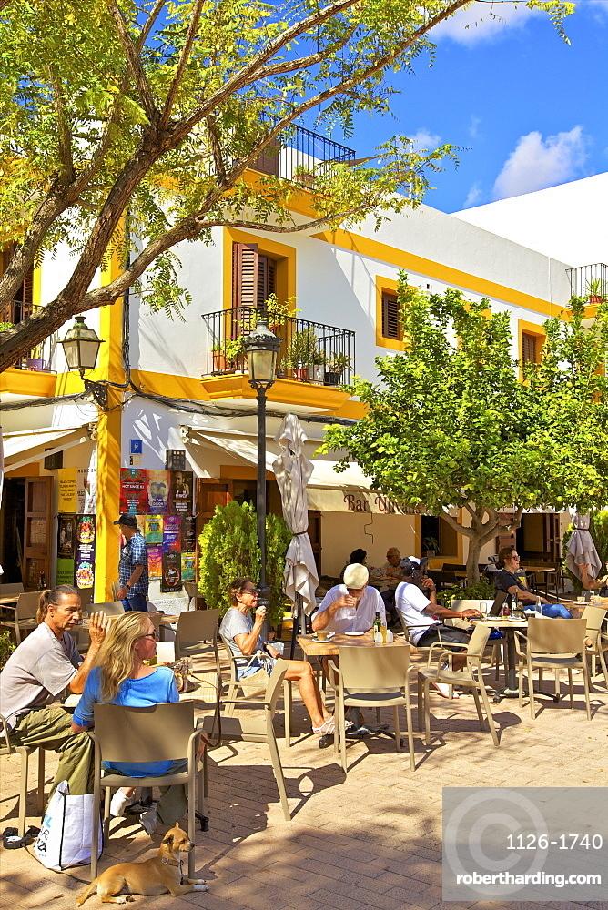 Cafe, Santa Gertrudis de Fruitera, Ibiza, Balearic Islands, Spain