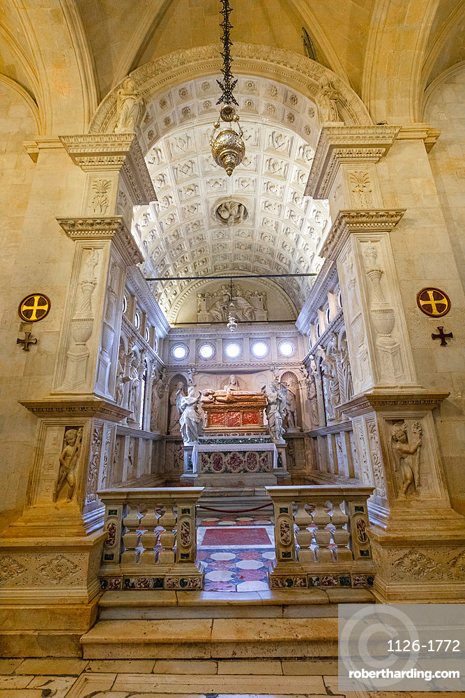 The Interior of The Cathedral of St. Lawrence, Trogir, Croatia, Europe