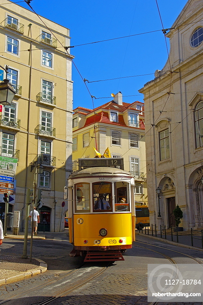 Lisbon, Tramway in Alfama District, Portugal
