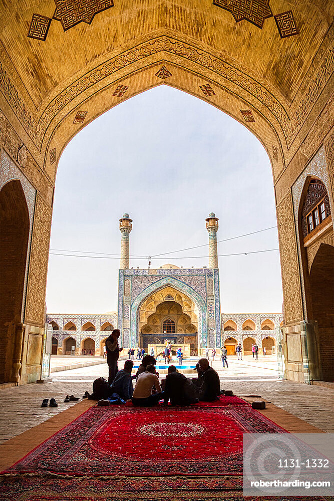 Northside Iwan, Masjed-e Djame or Jameh Mosque, Esfahan, Iran