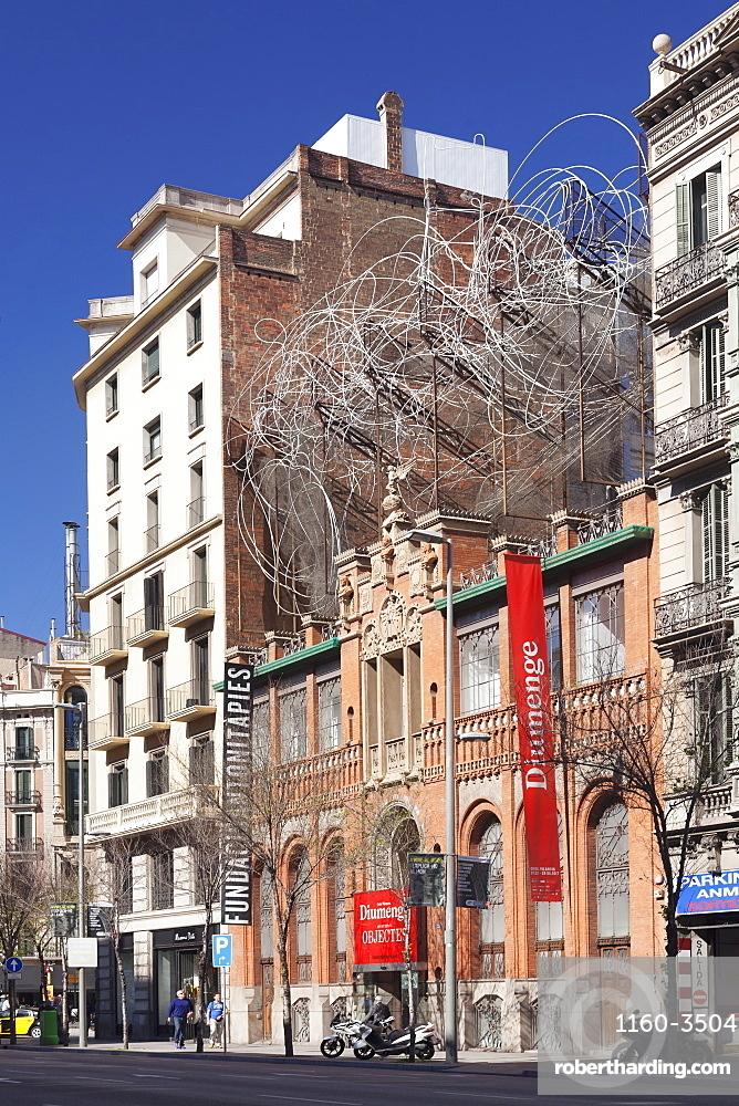 Fundacio Antoni Tapies, Museum, Architect Lluis Domenech i Montaner, Barcelona, Catalonia, Spain
