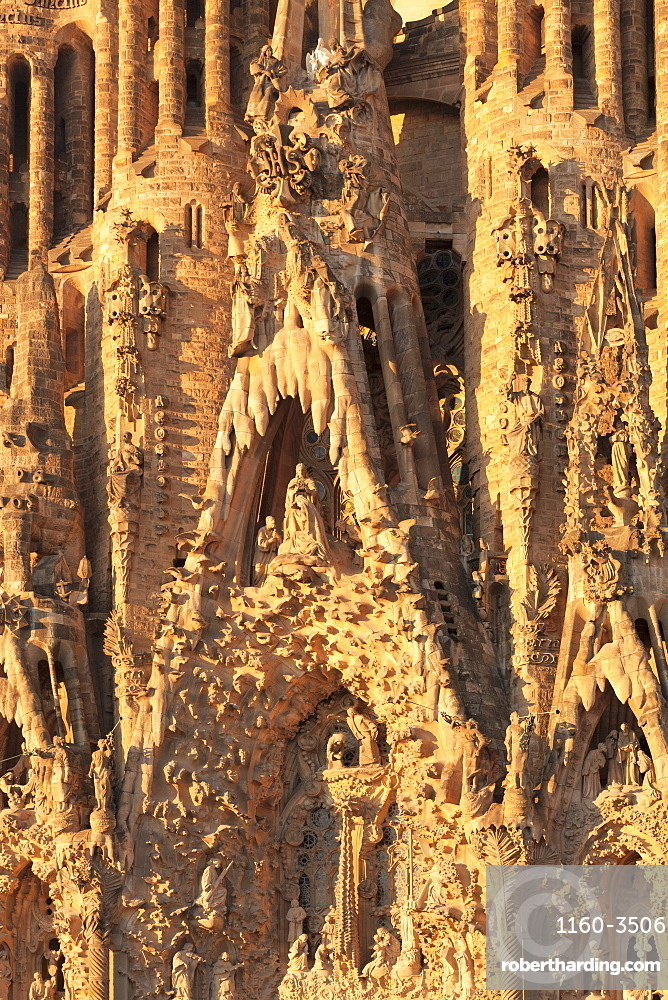 Facade of the Nativity, Sagrada Familia, by architect Antonio Gaudi, UNESCO World Heritage Site, Barcelona, Catalonia, Spain, Europe