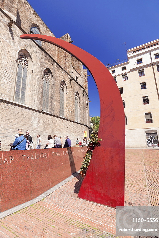 Santa Maria del Mar church, Gotik, El Born, La Ribera, Barcelona, Catalonia, Spain, Europe