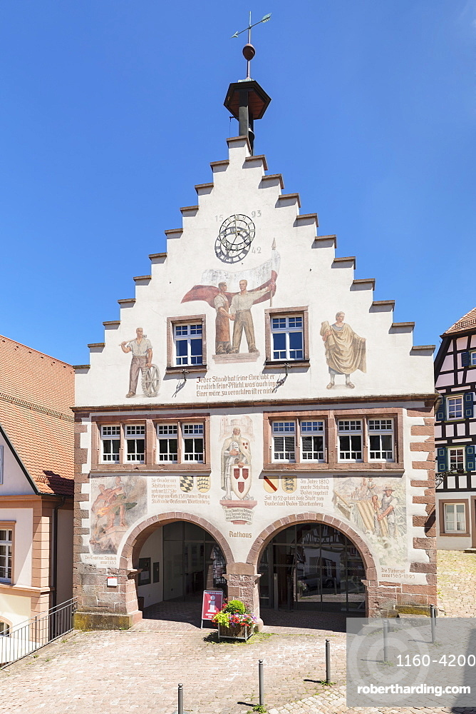 Townhall, market place, Schiltach, Black Forest, Kinzigtal Valley, Baden-Wuerttemberg, Germany