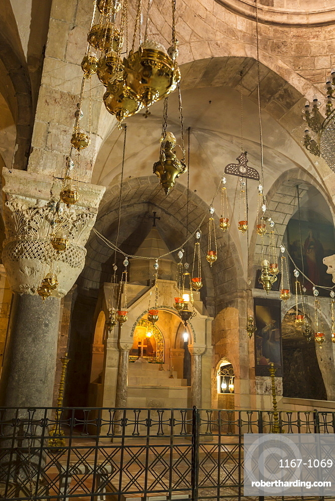 Chapel, Church of the Holy Sepulchre, Old City, Christian Quarter, Jerusalem, UNESCO World Heritage Site, Israel, Middle East