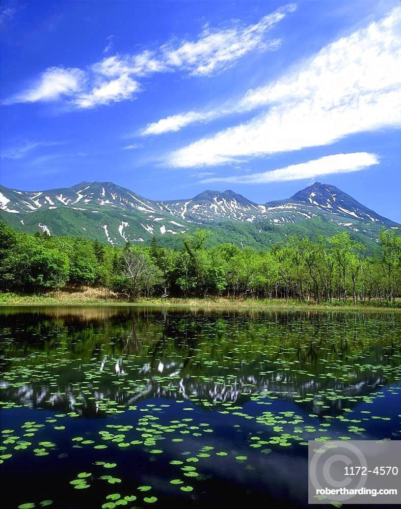 Shiretoko Mountain Range and Five Lakes, Hokkaido, Japan