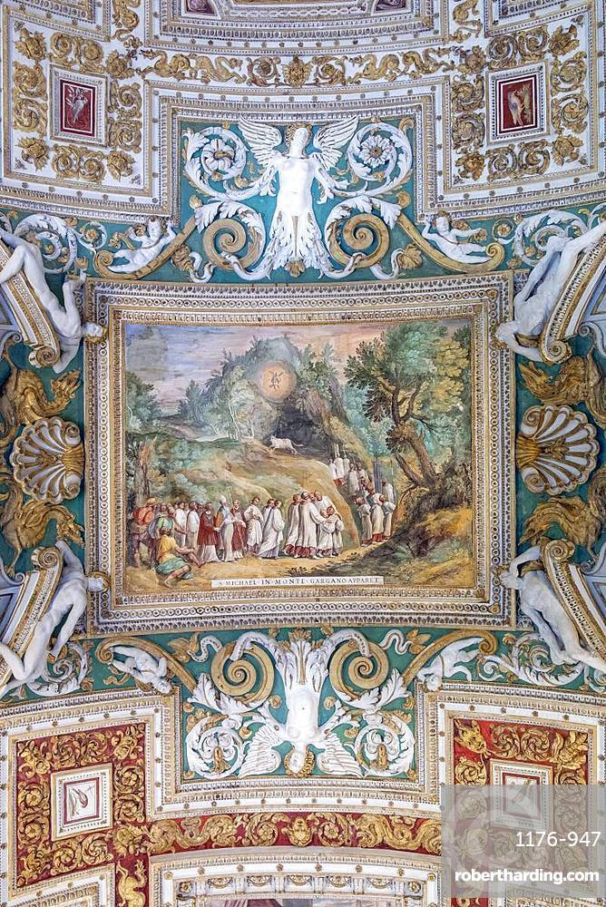 The painted ceiling in the stock photo the painted ceiling in the gallery of maps vatican museum unesco world heritage site gumiabroncs Images