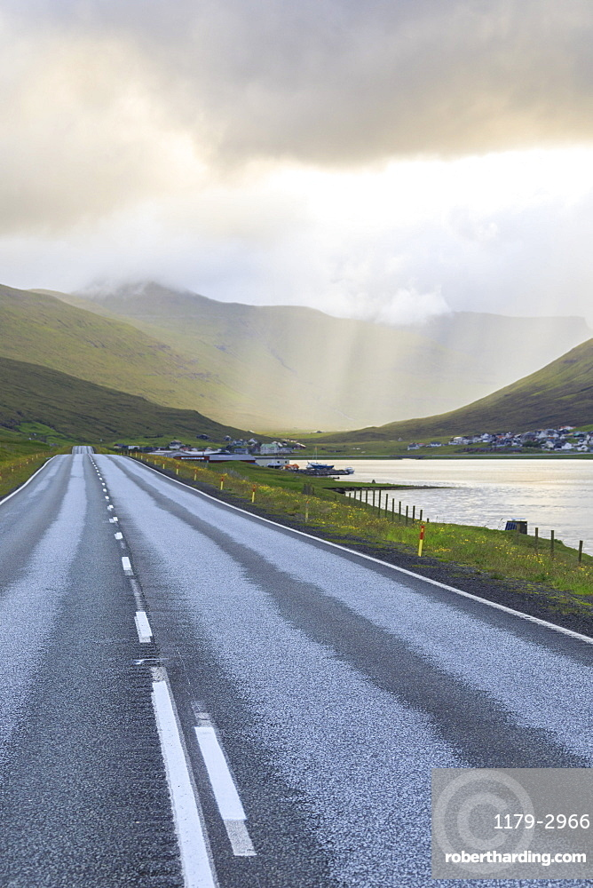 Road to Hvalvik, Streymoy Island, Faroe Islands, Denmark