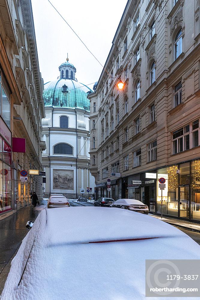 The Baroque Roman Catholic Peterskirche (St. Peter's Church), Vienna, Austria