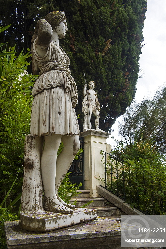 Classical Statue in the Achilleion palace, old town of Corfu, Ioanian islands, Greece