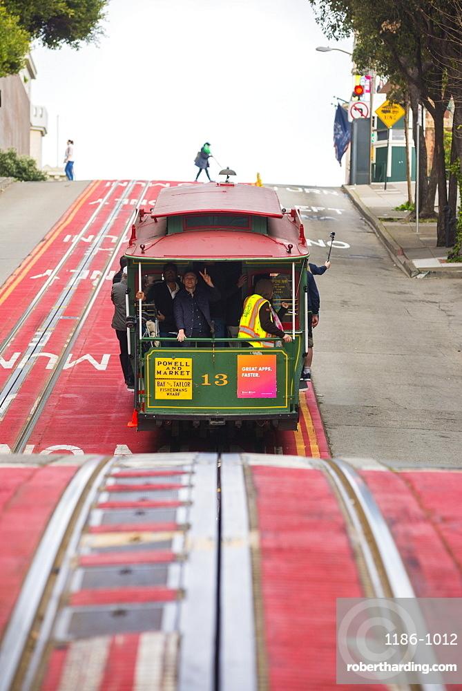 Trams (cable car), San Francisco, California, United States of America, North America