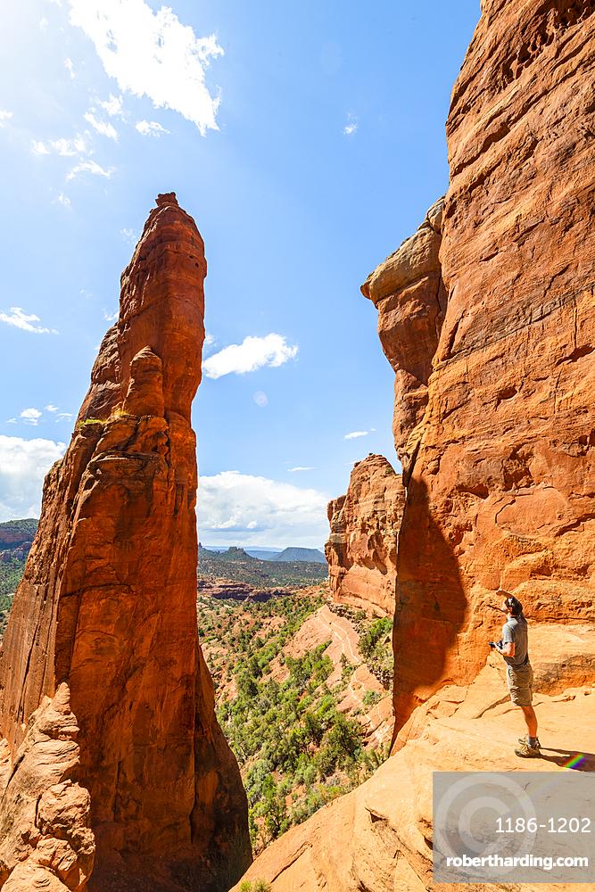 The Saddle of Cathedral Rock, Sedona, Arizona, United States of America, North America