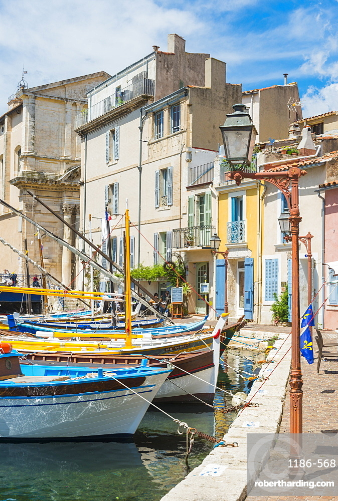 Boats in Martigues port, Bouches-du-Rhône, France,