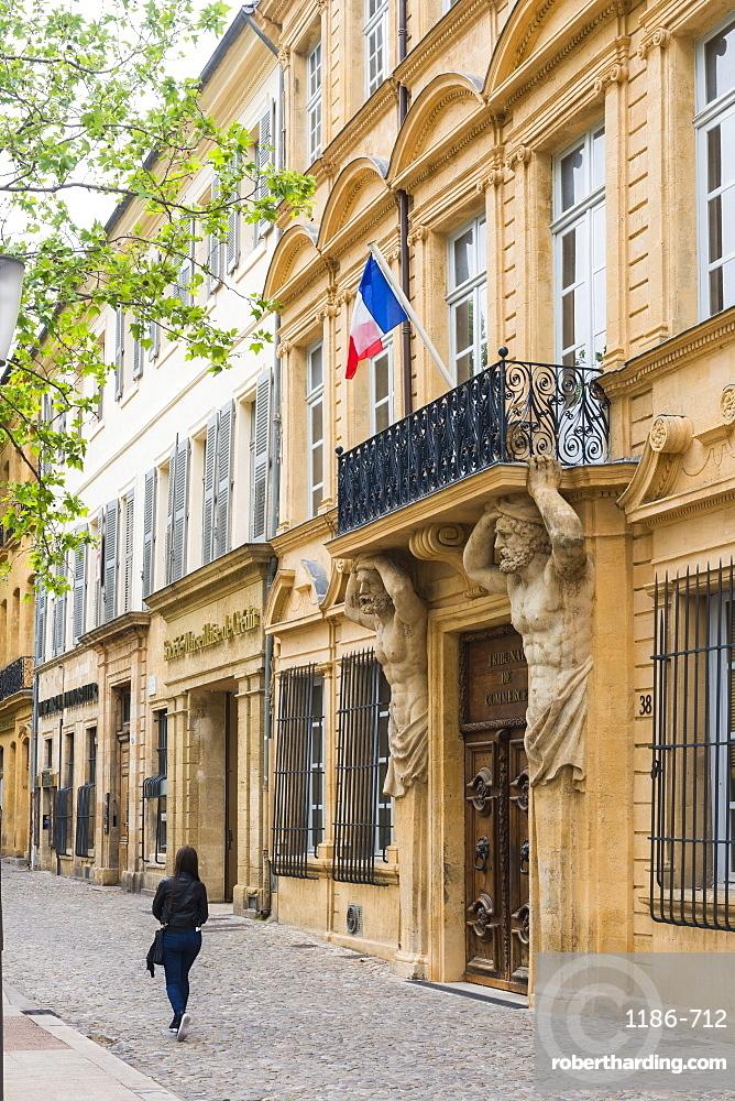 Street scene Aix en Provence, Bouches du Rhone France