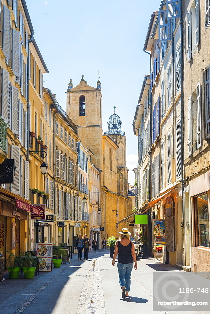 Streets of Aix en Provence, Bouches du Rhone France