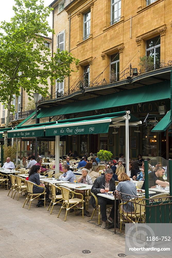 Cafe Aix en Provence, Bouches du Rhone France