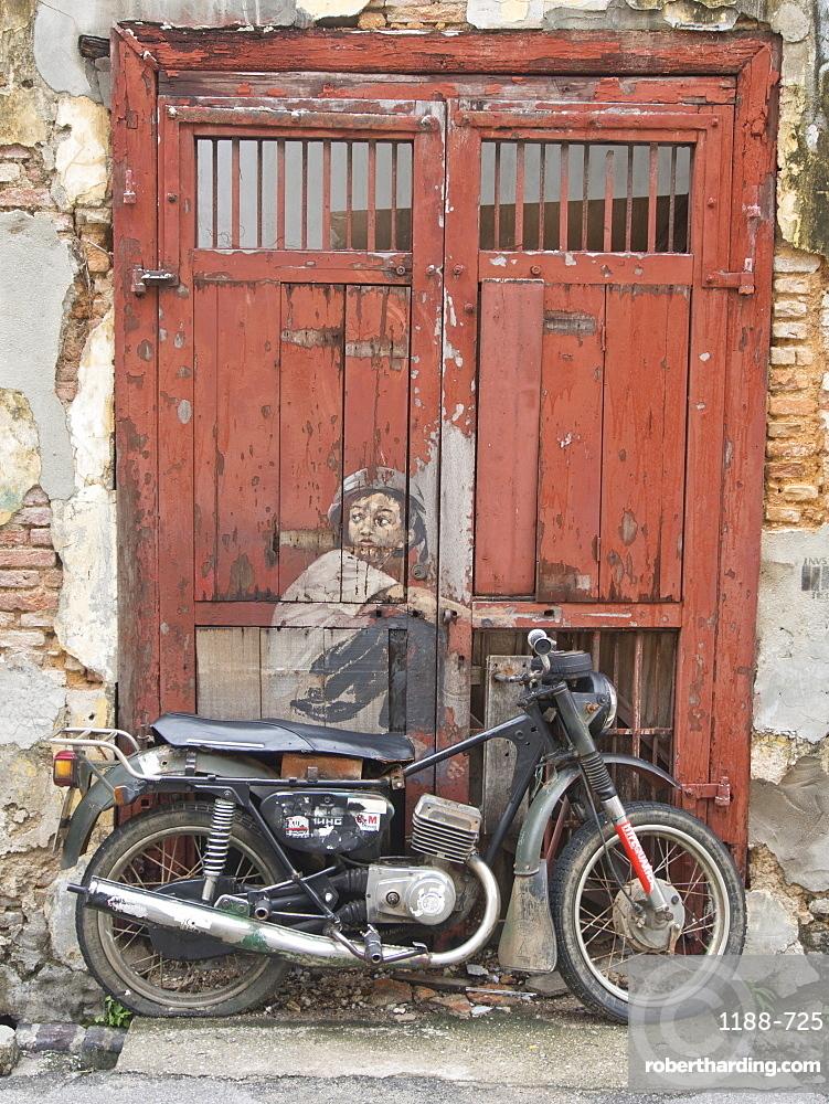 Mural, street art in Penang, Malaysia, Southeast Asia, Asia