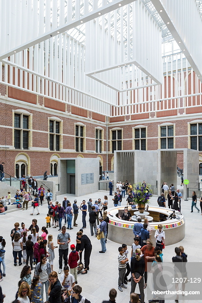 The main entrance hall of Rijksmuseum, Amsterdam, Netherlands, Europe