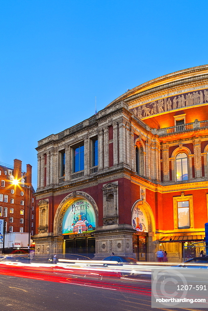 Royal Albert Hall, in early evening light, London, England, United Kingdom, Europe,