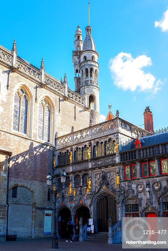 Basilica of the Holy Blood, Burg, Bruges, Belgium, Europe