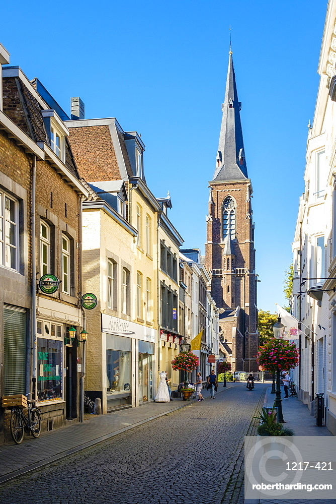 Shopping streets in Wyck quarter, Maastricht, Limburg, Netherlands, Europe