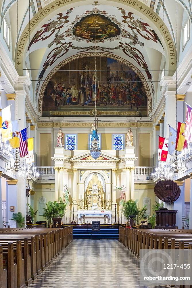 Interior of Saint Louis Cathedral, French Quarter, New Orleans, Louisiana, United States of America, North America