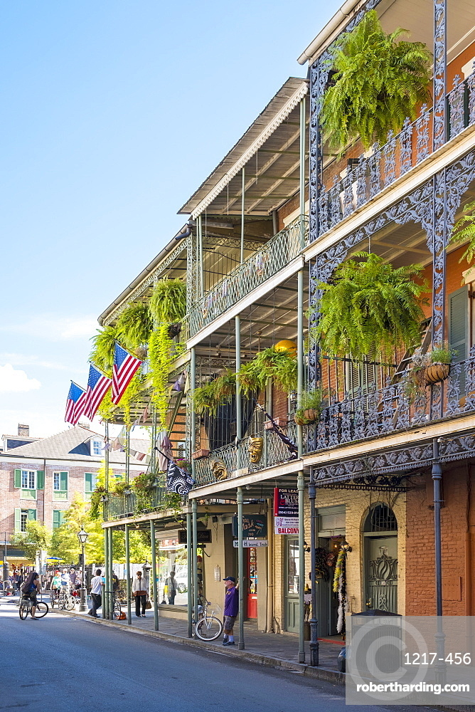 Balconies on Royal Street, French Quarter, New Orleans, Louisiana, United States of America, North America