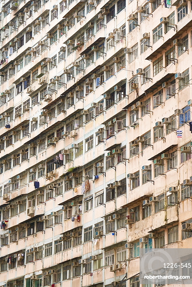 Densely crowded apartment buildings, Hong Kong Island, Hong Kong