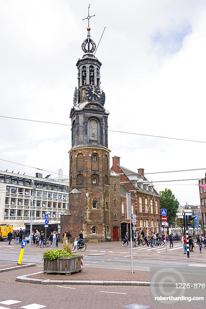 Munttoren (Munt Tower), Muntplein, Amsterdam, North Holland, The Netherlands, Europe