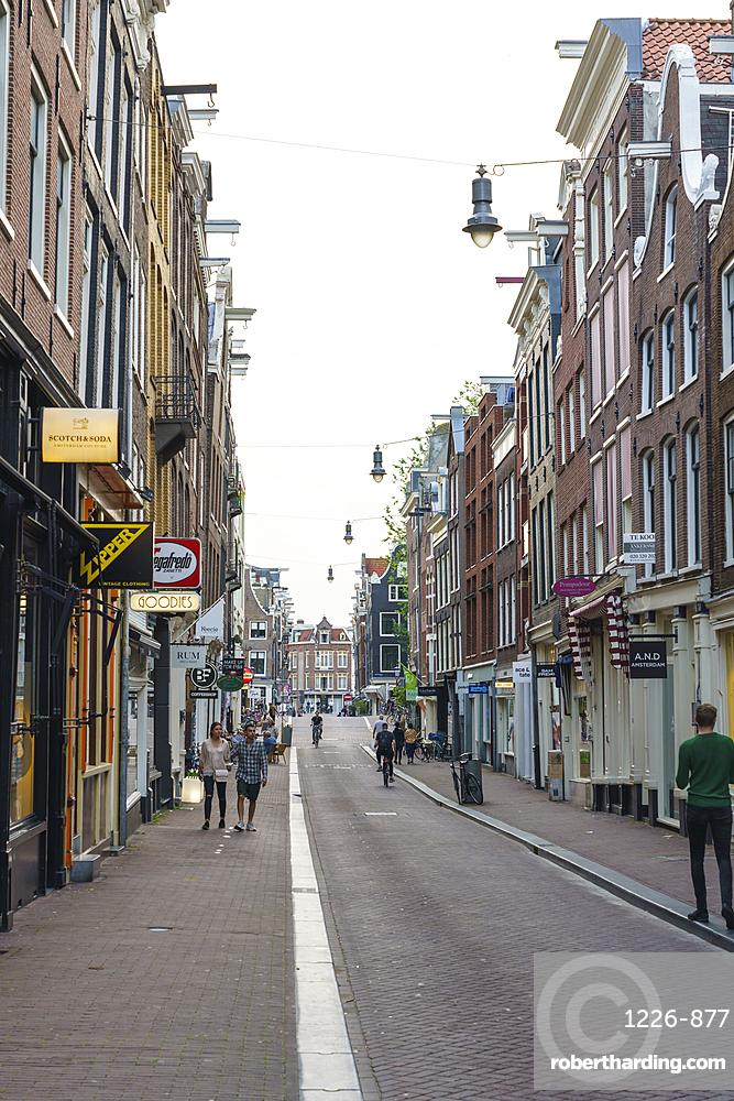 The Nine Streets district, De Negen Straatjes, a neighbourhood of quirky shops and restaurants, Amsterdam, Netherlands