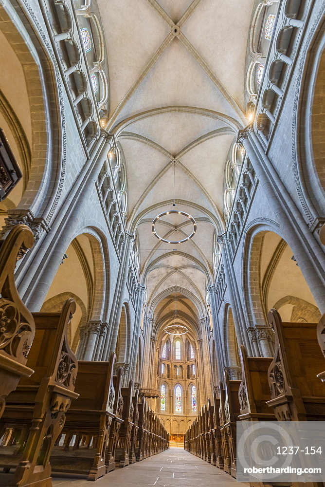 Interior of Saint Peter's Cathedral, Geneva, Switzerland, Europe