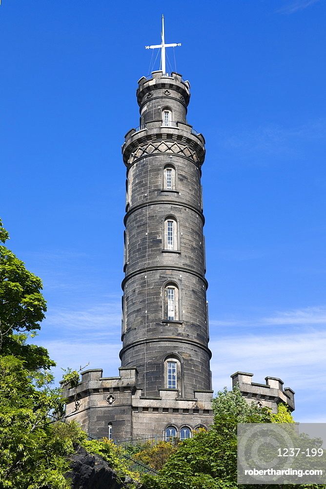 The Nelson Monument, Calton Hill, Edinburgh, Scotland, United Kingdom, Europe