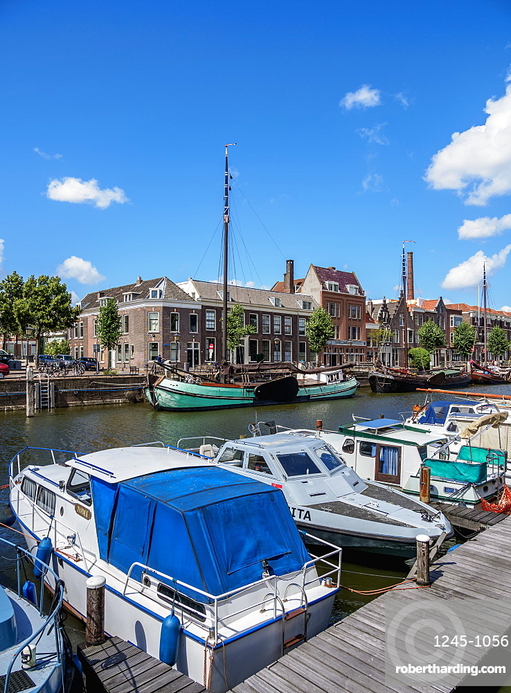 Aelbrechtskolk in Delfshaven, Rotterdam, South Holland, The Netherlands, Europe