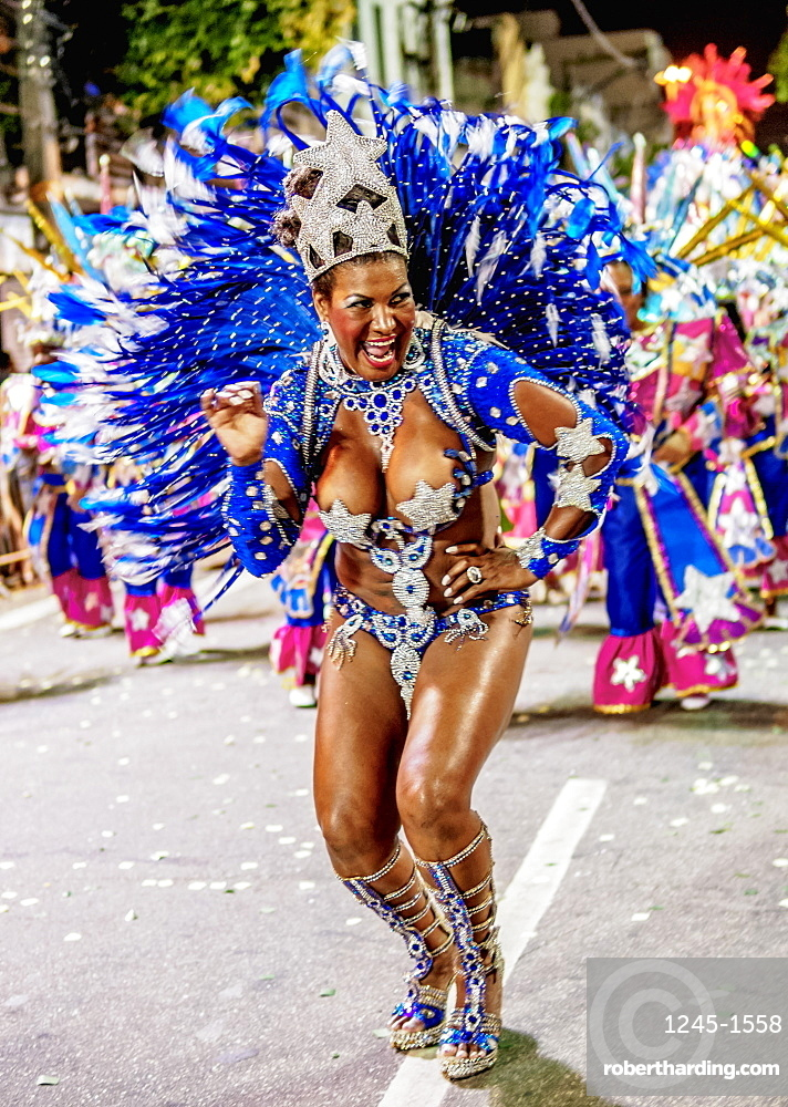 Samba Dancer at the Carnival Parade in Niteroi, State of Rio de Janeiro, Brazil, South America