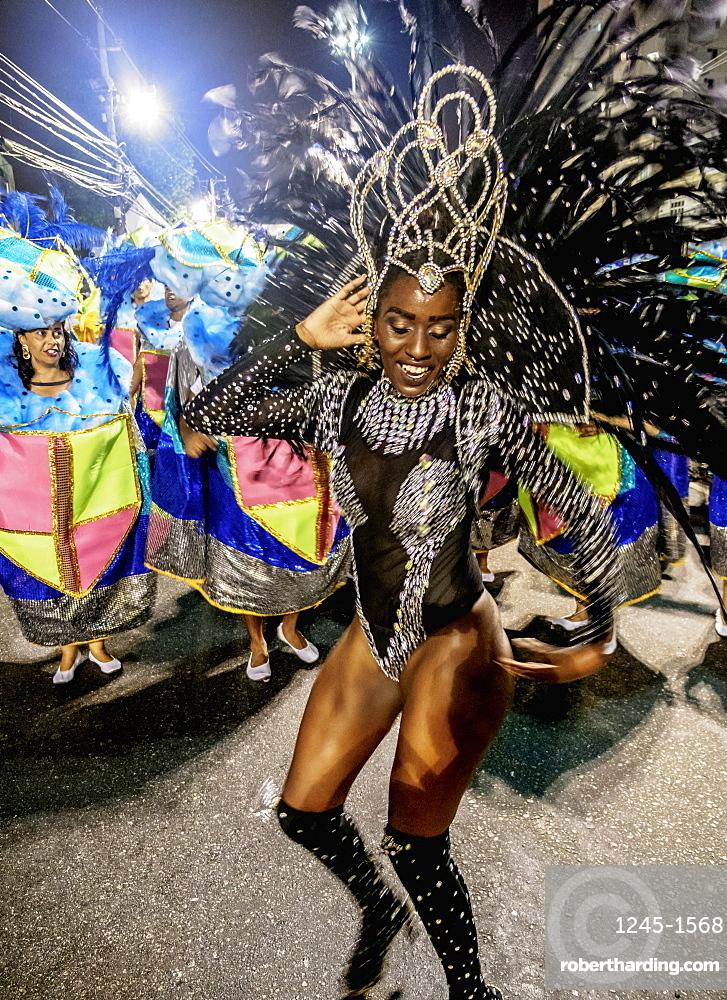 Samba Dancer at the Carnival Parade in Rio de Janeiro, Brazil, South America