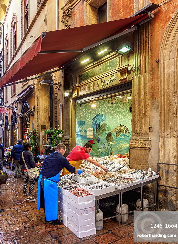 Street food market, Bologna, Emilia-Romagna, Italy