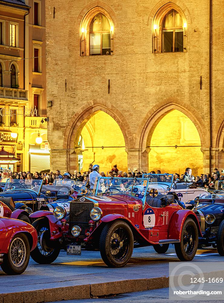 1000 Miglia at Piazza Maggiore, Bologna, Emilia-Romagna, Italy