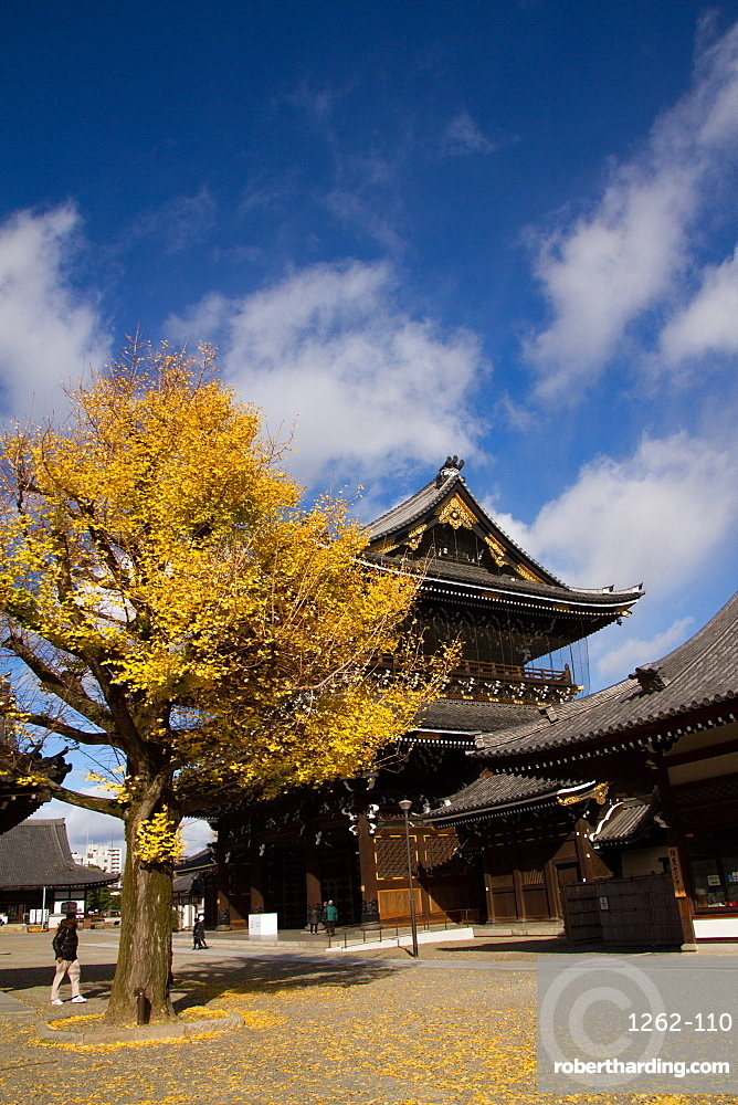 The Higashi Honganji Shin Buddhist Temple, Kyoto, Japan, Asia