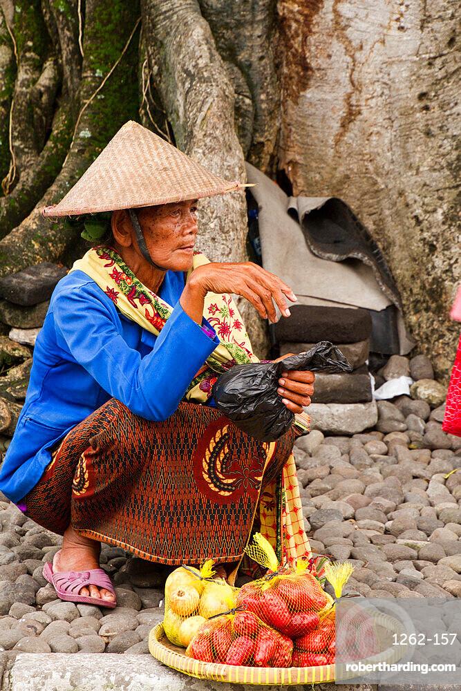 Indonesian woman of Yogyakarta, Indonesia