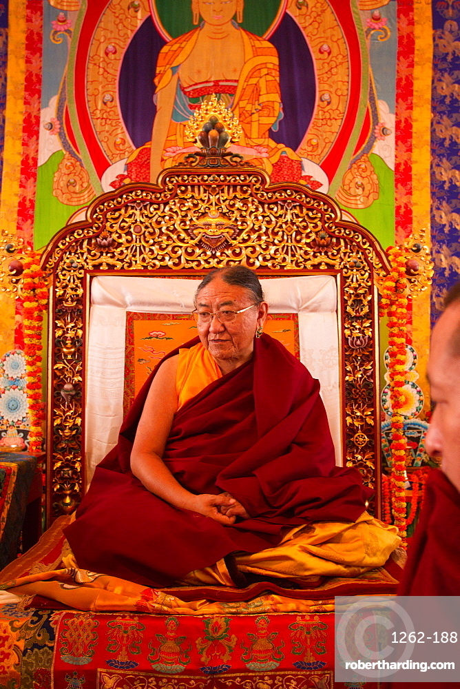 His Holiness Sakya Trizin Rinpoche, the Great Sakya Monlam prayer meeting at Buddha's birthplace, Lumbini, Nepal, Asia