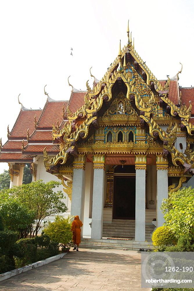 The Thai Buddhist temple of Bodh Gaya, Bihar, India, Asia